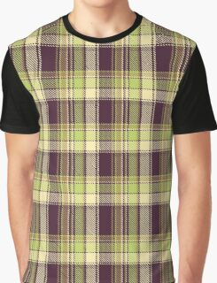 Green and Plum Plaid Products Graphic T-Shirt