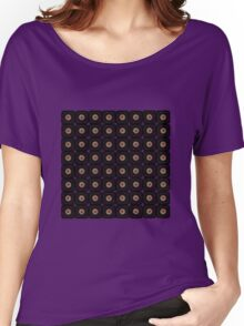 Daisy Black on Red Women's Relaxed Fit T-Shirt