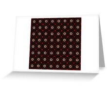 Daisy Black on Red Greeting Card