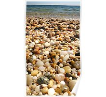 Pebble Beach at Orient Point in Long Island Poster