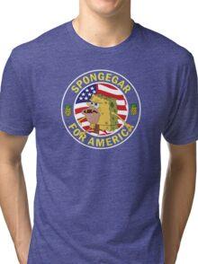 Spongegar for President Tri-blend T-Shirt