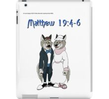 Matthew 19:4-6 iPad Case/Skin