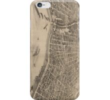 Vintage Pictorial Map of Evansville Indiana (1880) iPhone Case/Skin