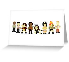 Firefly pixels Greeting Card