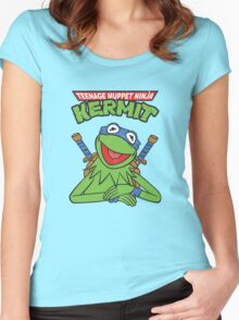 Teenage Muppet Ninja Kermit Women's Fitted Scoop T-Shirt