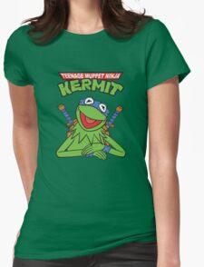 Teenage Muppet Ninja Kermit Womens Fitted T-Shirt