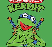 Teenage Muppet Ninja Kermit by Ninjae-Art