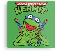 Teenage Muppet Ninja Kermit Metal Print