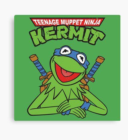 Teenage Muppet Ninja Kermit Canvas Print