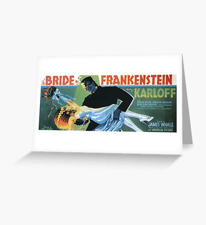 Bride of Frankenstein movie poster Greeting Card