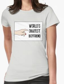Cool Funny Gift Design For Best Okeyest Boyfriends Womens Fitted T-Shirt