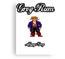 Monkey Island Grog Rum Canvas Print