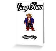 Monkey Island Grog Rum Greeting Card