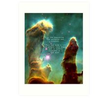 Hitchhiker's Guide Quote Art Print