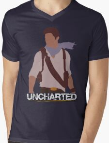 Uncharted - Minimalist Art Mens V-Neck T-Shirt