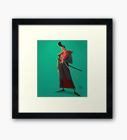 Rockabilly 50s Samurai Framed Print
