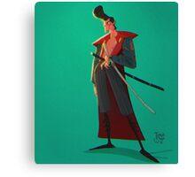 Rockabilly 50s Samurai Canvas Print