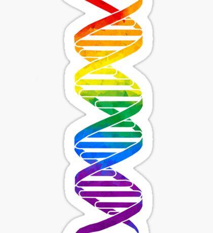 Rainbow Double Helix Sticker
