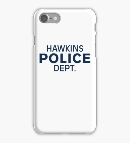 Hawkins Indiana Police Dept. iPhone Case/Skin