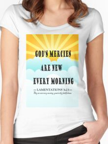 LAMENTATIONS 3 - EVERY MORNING Women's Fitted Scoop T-Shirt