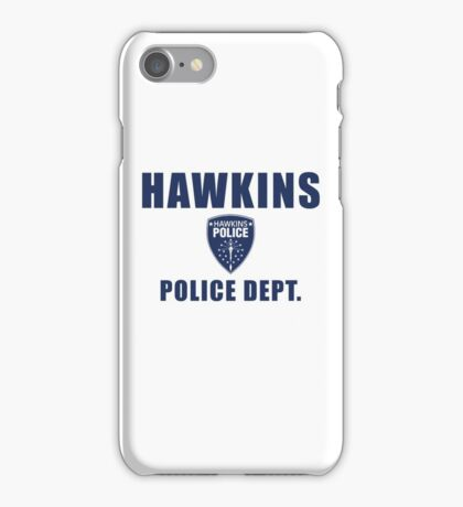 Hawkins Indiana Police Department Shield iPhone Case/Skin