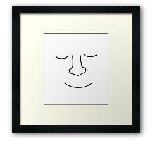 Sleeping man  Framed Print