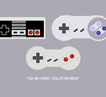 NES 2 Controller - Has Your Eyes by mrbrownjeremy