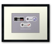 NES 2 Controller - Has Your Eyes Framed Print