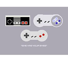 NES 2 Controller - Has Your Eyes Photographic Print