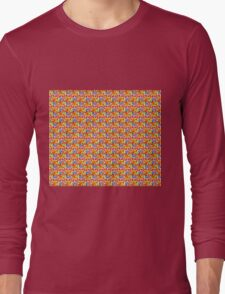 Red Fox Pattern Long Sleeve T-Shirt