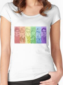 Rainbow Ghostbusters (Without Text) Women's Fitted Scoop T-Shirt