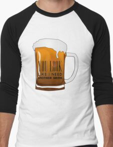 Funny Cool Flirting Pick Up Drunk Joking Design Men's Baseball ¾ T-Shirt