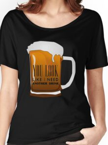 Funny Cool Flirting Pick Up Drunk Joking Design Women's Relaxed Fit T-Shirt