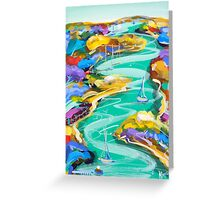 Watching the water flow Greeting Card