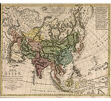 Vintage Map of Asia (1805) Photographic Print