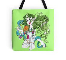 Lady with Snake Tote Bag