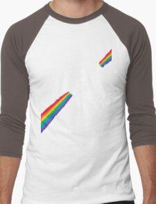 Obama Unicorn Rainbow Pride Men's Baseball ¾ T-Shirt