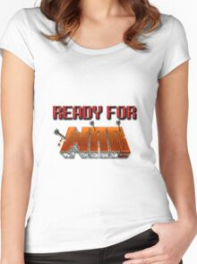 READY FOR WAR. (Minecraft) Women's Fitted Scoop T-Shirt