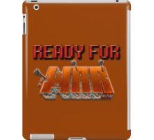 READY FOR WAR. (Minecraft) iPad Case/Skin