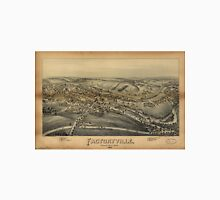 Vintage Pictorial Map of Factoryville PA (1891) Unisex T-Shirt