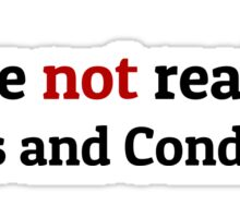 Funny Terms and Conditions Geek Design Sticker