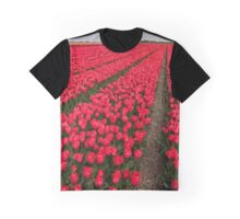 Tulip fields in springtime Graphic T-Shirt