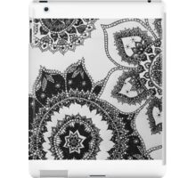 black and white mandalas iPad Case/Skin