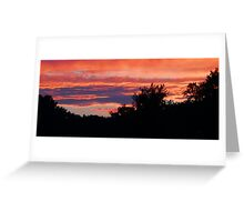 Behind The Trees Greeting Card