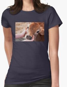 Cute Cow Womens Fitted T-Shirt