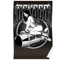 Bomber Pin-Up Girl Poster