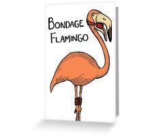 Bondage Flamingo Greeting Card