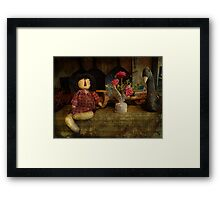 Primitive doll Framed Print