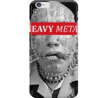 Heavy metal man piercings iPhone Case/Skin