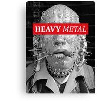 Heavy metal man piercings Canvas Print